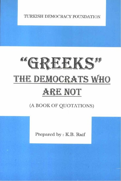 ' GREEKS ' THE DEMOCRATS WHO ARE NOT