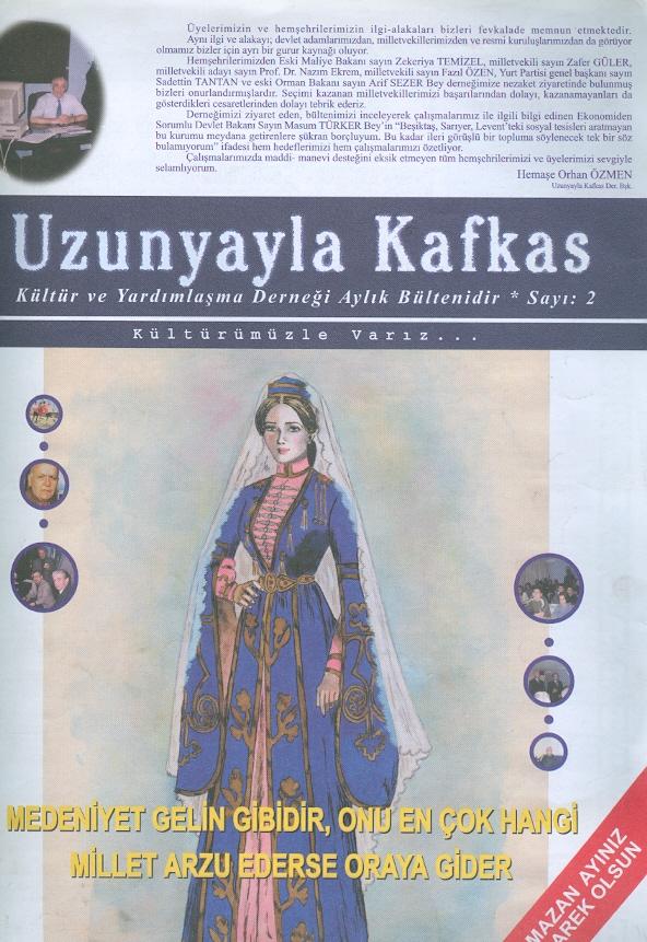 Uzunyayla Kafkas Kültür Ve Yardımlaşma Derneği Aylık Bülteni Sayı-2