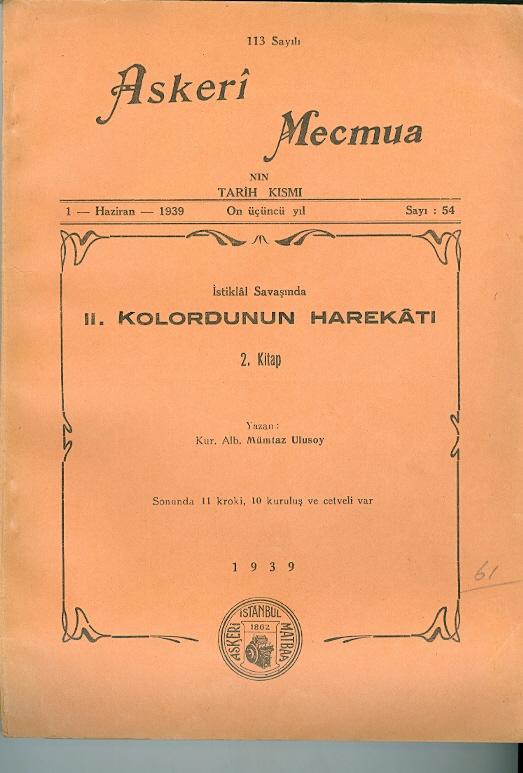 Askeri Mecmua Sayı-54